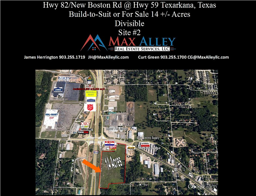 TEXARKANA, TX 14 Acres Hwy 59 and Hwy 82